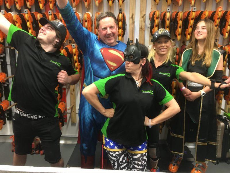 Staff dress up for Marvel vs DC Disco
