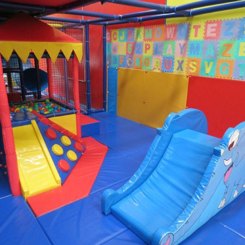 Colourful play equipment available at Playmaze Narellan