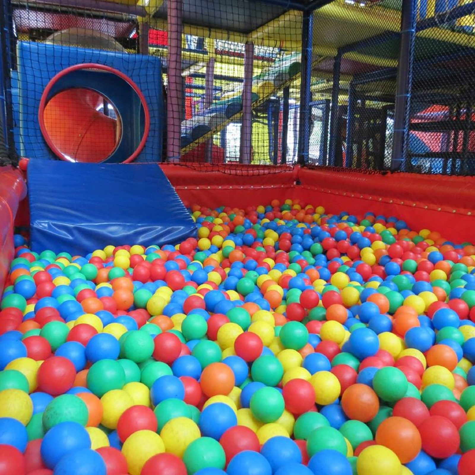 Colourful ball pit for children to play in at Playmaze Narellan