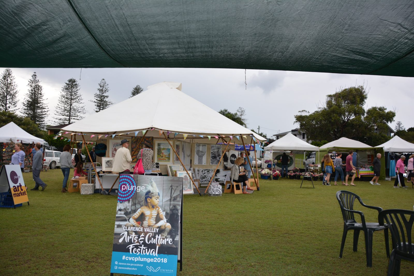 Art Market yurt at Yamba Market