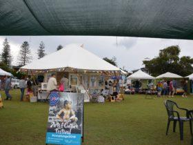 Art Market yurt at Yamba Market