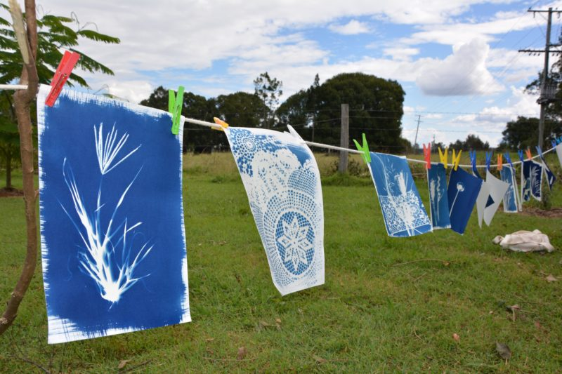 Cyanotype workshop at Cowper