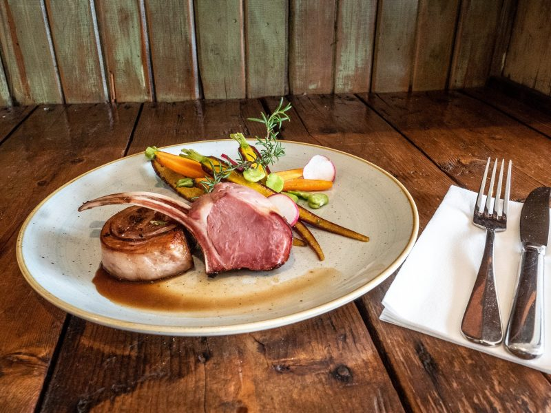 Smoked lamb rustic dish from our artisan smokehouse, great smoked meats