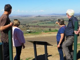 Porcupine Lookout - view East over the Breeza Plain and towards the Great Dividing Range