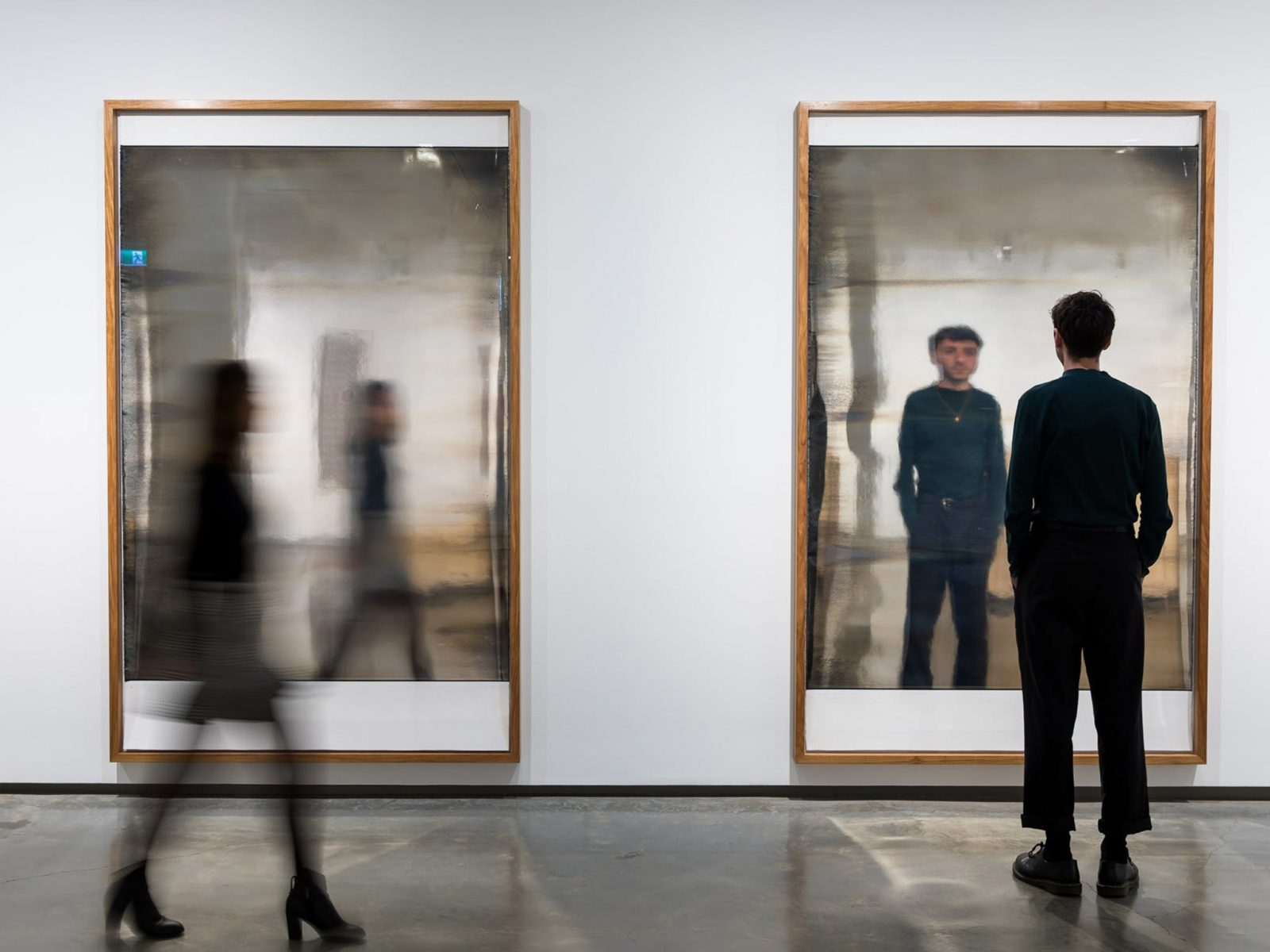 Two mirrored artworks