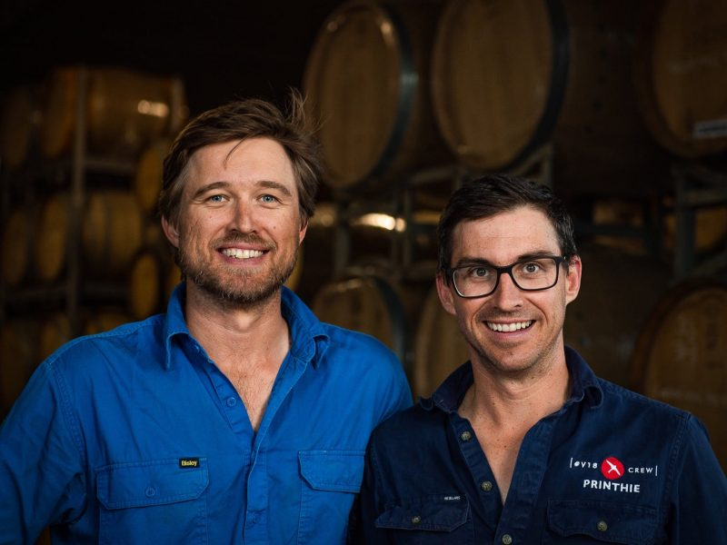 Ed and Dave Swift, Owners of Printhie Wines, Orange NSW 2800