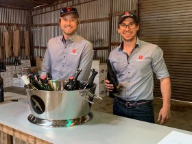 Ed and Dave Swift, owners Printhie Wines