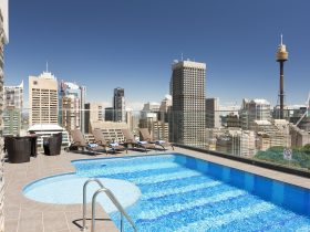 Outdoor Pool - Sydney CBD skyline