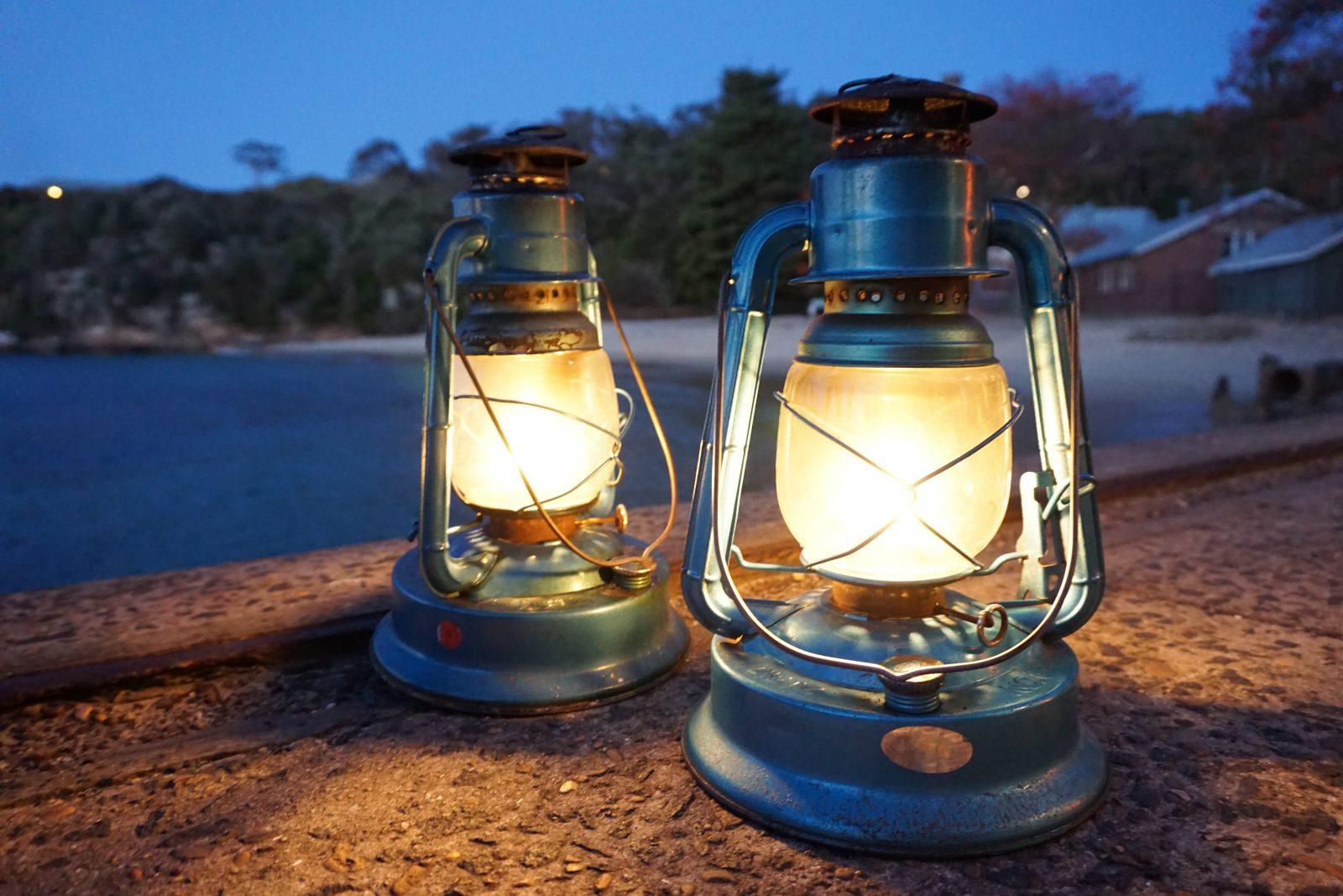 Lanterns on Quarantine Wharf