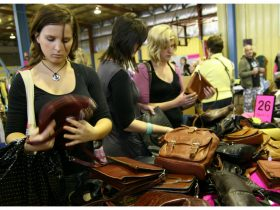 Shoppers enjoying the bargains at our last event