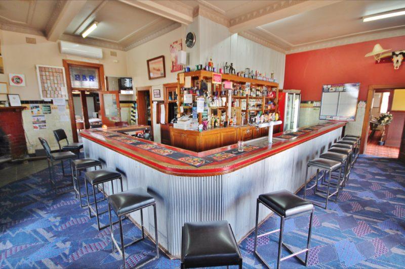 Bar at the Railway Hotel, Bribbaree