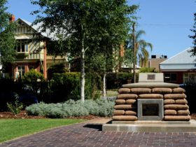 Reserve Forces monument in the Victory Memorial Gardens in Wagga Wagga