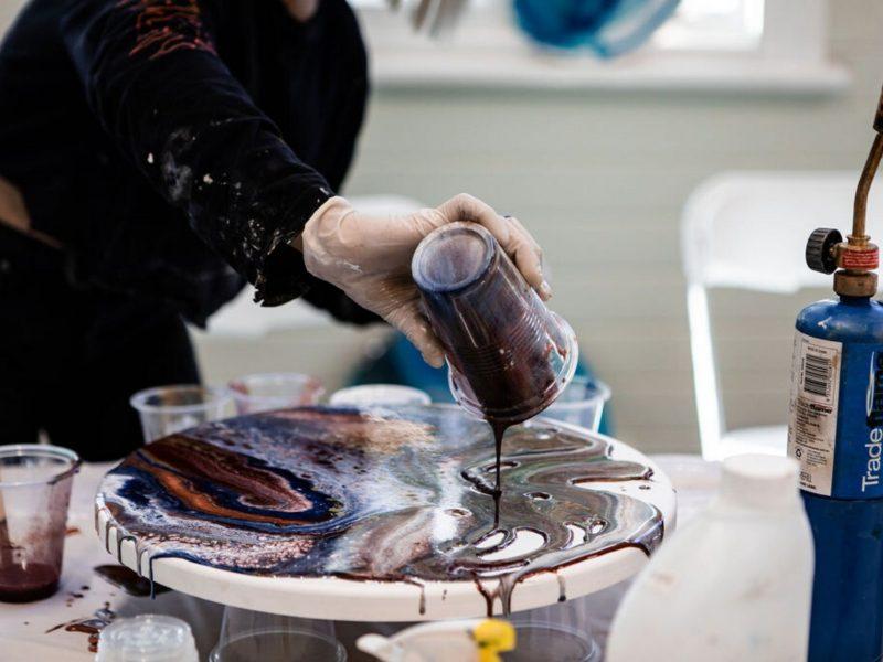 Resin Art Workshop in Jervis Bay