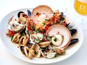 Warm Shellfish with Parsley, Lemon, Olive Oil, Chilli and Garlic