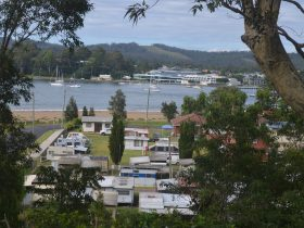 A view of a small portion of Rio Rita Caravan Park looking out to the Clyde River. A great location.