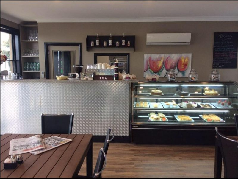 Inside the Rogue Carriage Cafe Cowra