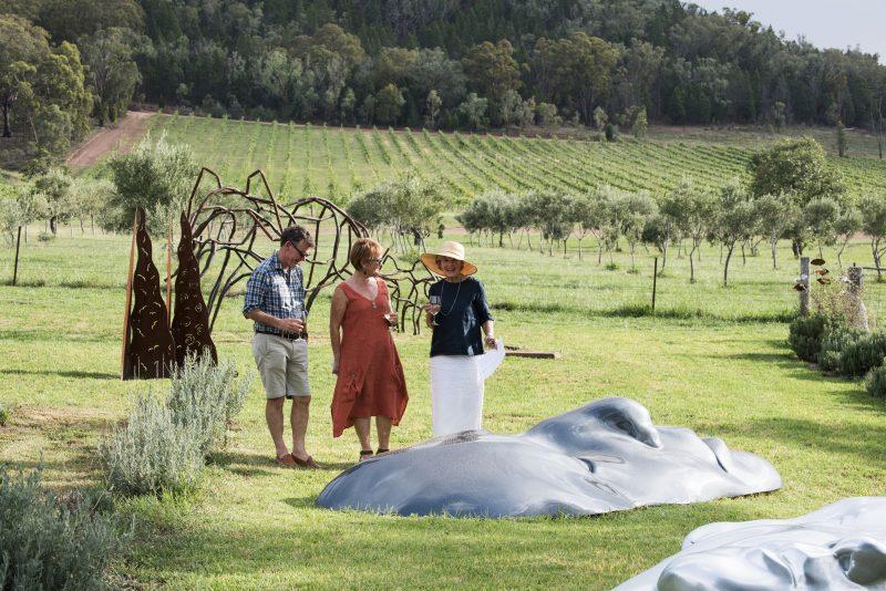 Rosby Wines Cellar Door & Sculpture Garden, stunning garden setting and Australian Sculpture