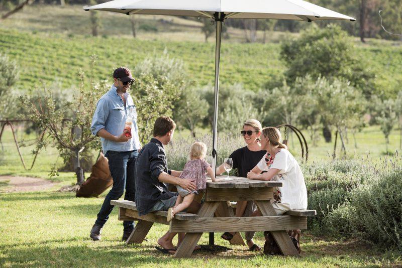 Rosby Wines Cellar Door & Sculpture Garden. Mudgee Wine in a garden setting.