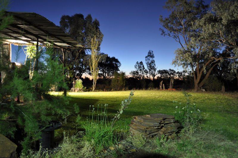 Rustic Kitchen, Garden, Night,