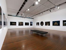 interior gallery space, Bill Henson photographs