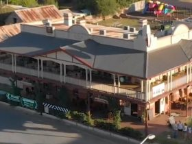 The Royal Hotel Adelong from above