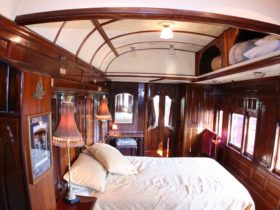 One of the Queen bedrooms, this one is in the State Car