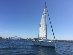 Sailing on Sydney Harbour with Sailcorp