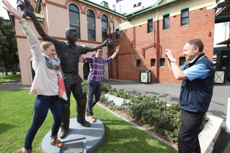 SCG Guided Walking Tour Bronze Statue Waugh