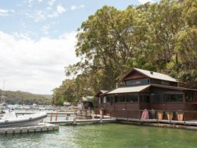 You'll love the impressive hardwood waterfront boat house