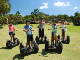 Zooming around on Segways at Opal Cove Resort , Coffs Harbour