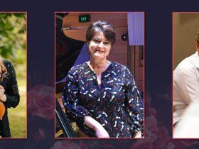 L - R: Grace Clifford (violin), Kathryn Selby AM (piano), Timo-Veikko Valve (cello)