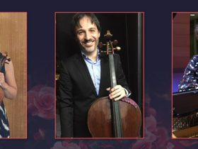 L - R: Natalie Chee (violin), Umberto Clerici (cello), Kathryn Selby AM (piano)