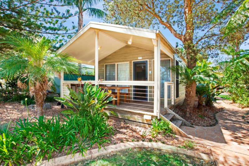 Front of Cabin at Seven Mile Beach Holiday Park