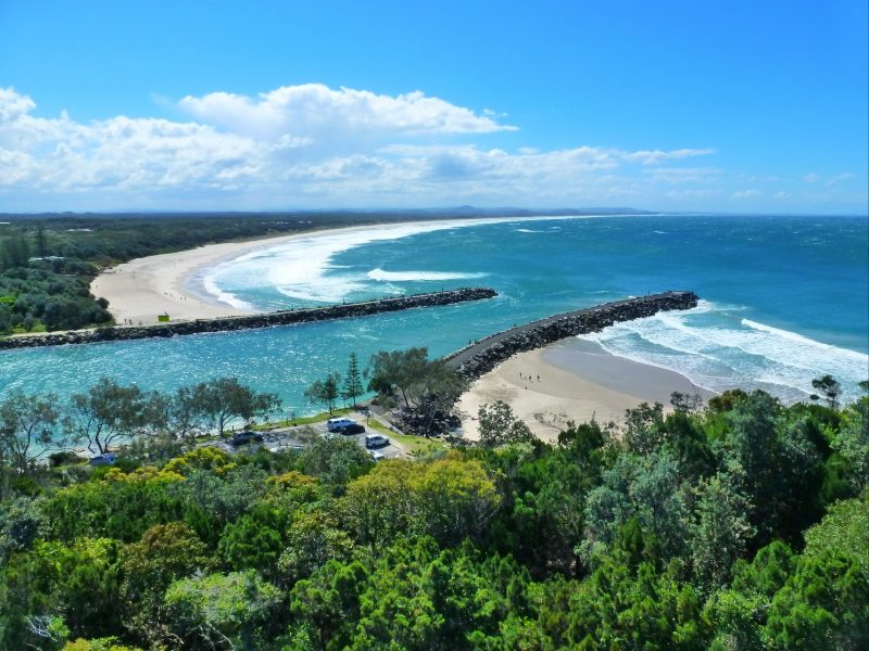 Razorback Lookout overlooking Shark Bay and Evans River mouth