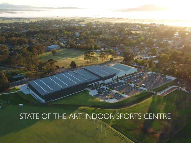 Aerial Photo - Shoalhaven Indoor Sports Centre