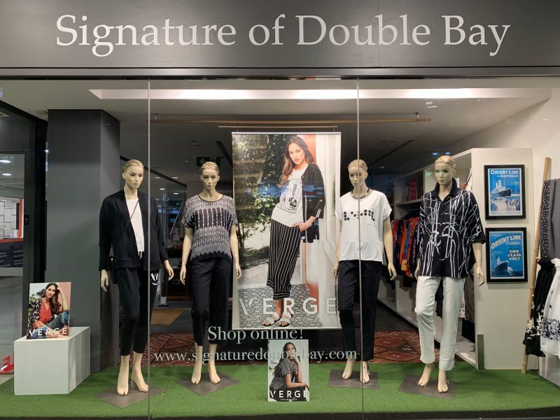 Signature of Double Bay. Fashion Boutique stocking Verge Nz, Paula Ryan, Desigual, Frank Lyman