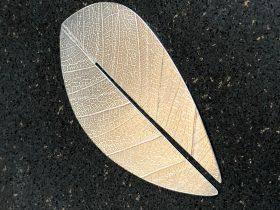 Finished silver leaf bookmark