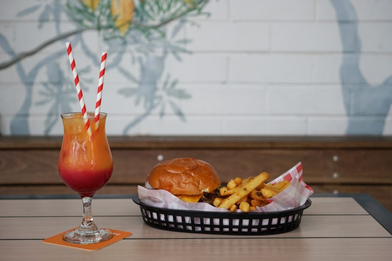 Burgers and Drinks