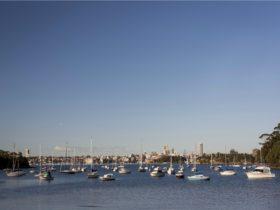 Boats docked at Sirius Cove, Mosman