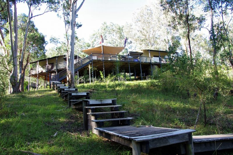 The tranquil ecolodge on the Coxs River on the Six Foot Track