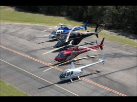 Helicopter Fleet photographed from R44 helicopter