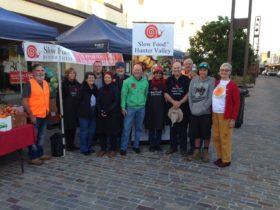 Slow Food volunteers and farmers