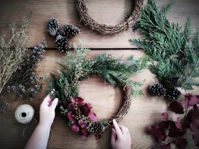 Christmas Wreath making with all materials and tools provided