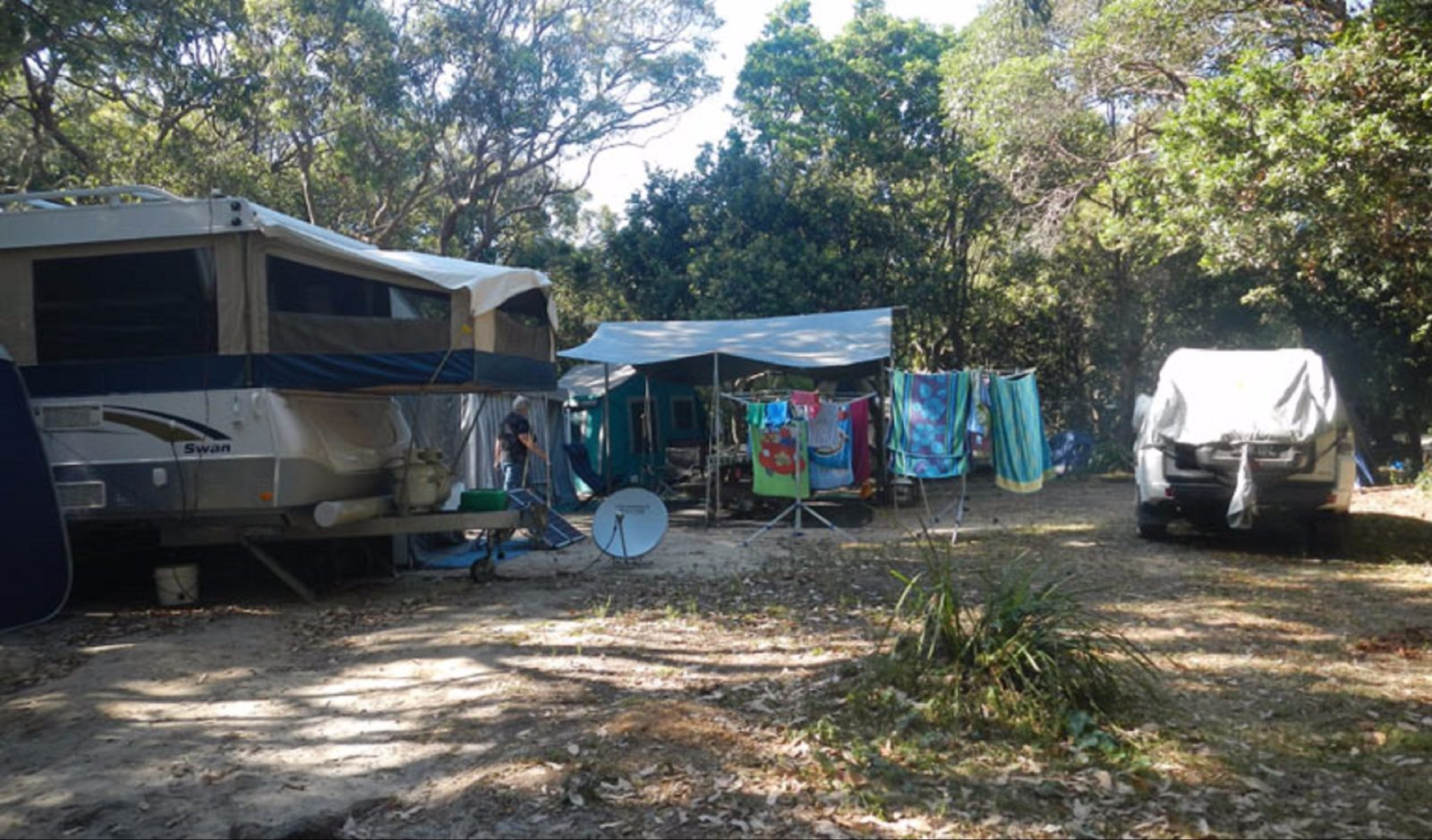 Caravans in Smoky Cape Campground. Photo: Debby McGerty