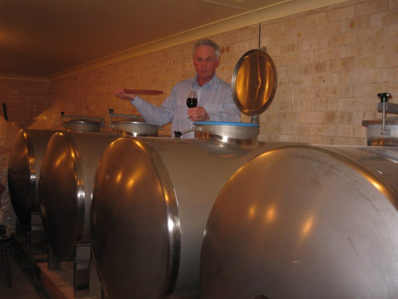 Chris Bourke in the winery