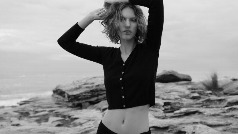 Pure cashmere 'Rhian' cardigan in black