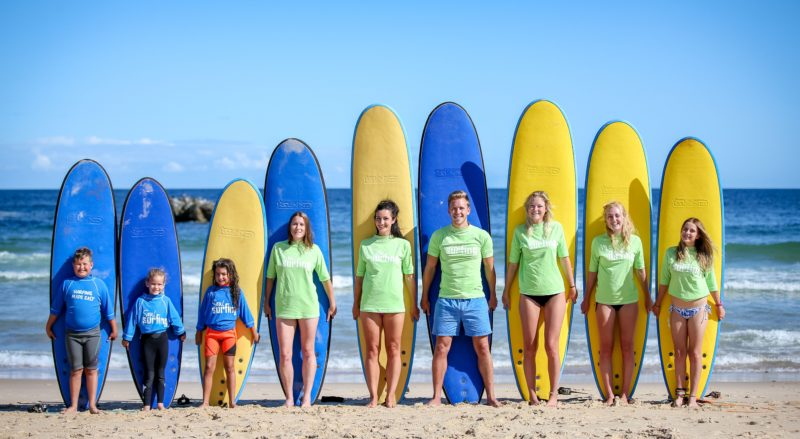 Surf lesson, group classes, learn to surf