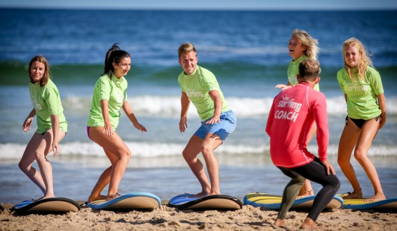 All safety and basic skills are taught on the sand beforehand