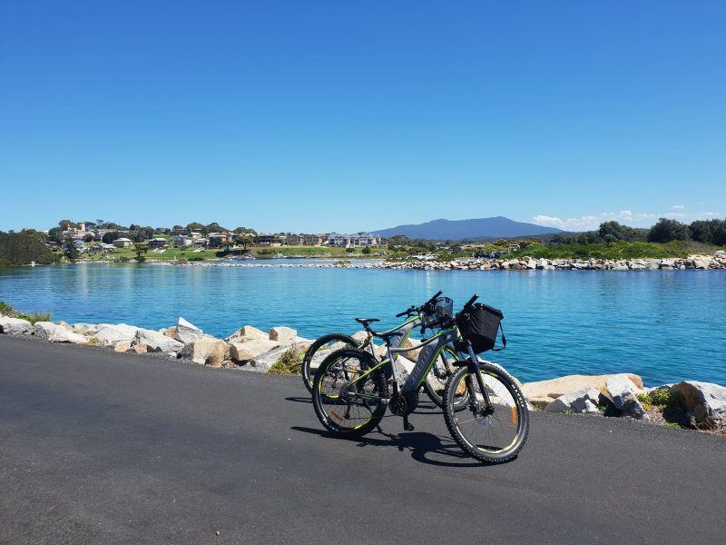 E-Bike ride along Dalmeny Tourist Drive Narooma Eurobodalla adventure tours