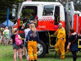 Kids explore the RFS firetruck